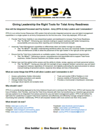 Giving Leadership the Right Tools for Total Army Readiness Factsheet