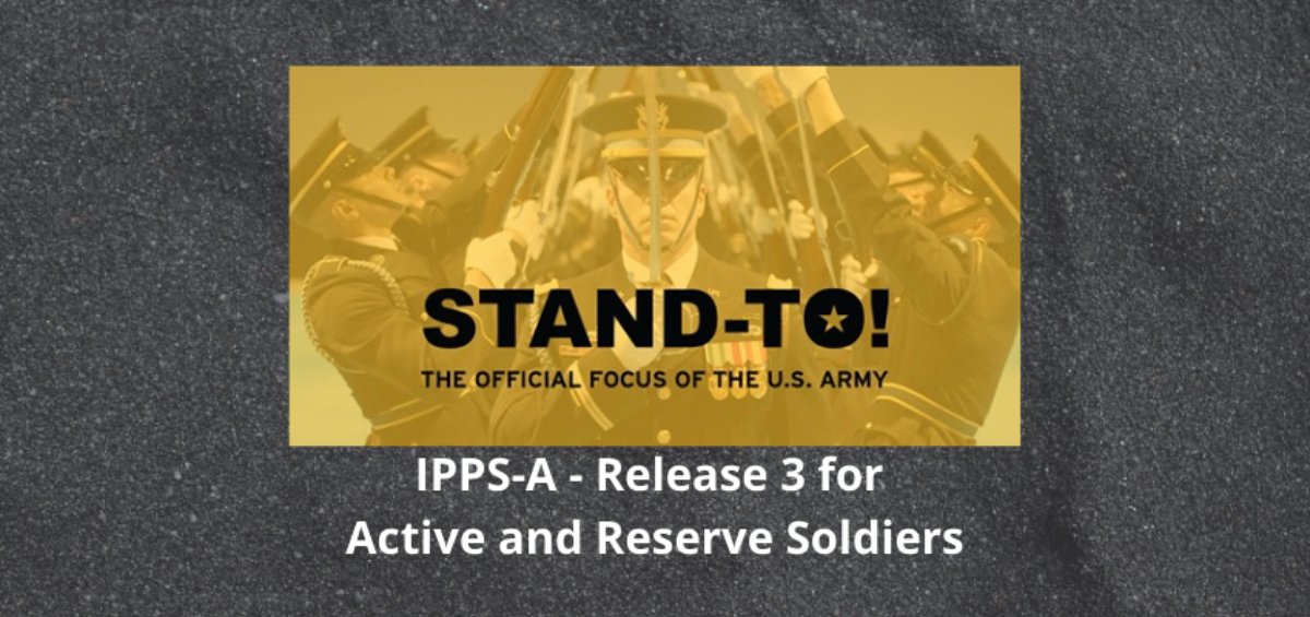 Graphic: STAND-TO! IPPS-A R3 for Active and Reserve Soldiers