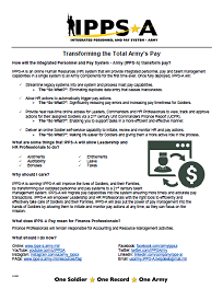 Graphic: Transforming Total Army Pay Factsheet