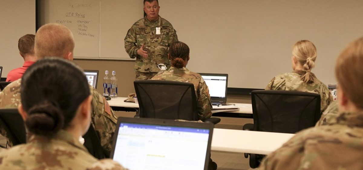 Photo: Major Gen. Darrell J. Guthrie, commanding general, 88th Readiness Division, speaks to the crowd of human resources professionals attending the Integrated Personnel and Pay System-Army (IPPS-A) train the trainer (T3) course at Fort Snelling, Minn., July 26, 2021. Guthrie talked about the importance of the new system and the vital role these HR pros will play as the Army Reserve transitions to the new system.